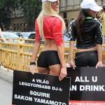 Hungarian playmates advertise Formula 1 Budapest race