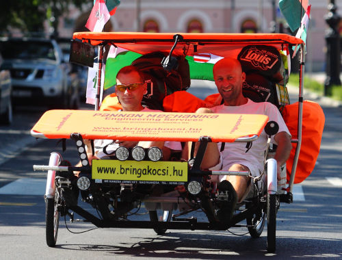 Pedalling from Hungary to London by carbike
