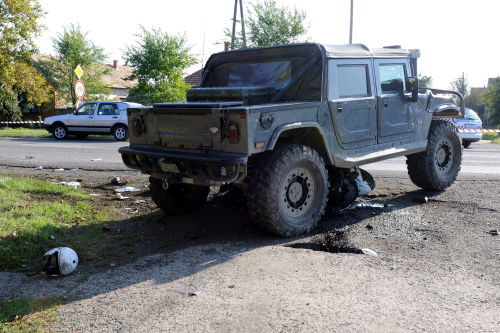 The Hummer that ran over the policeman