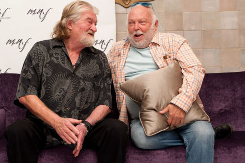 Joe Eszterhas and Andrew G. Vajna