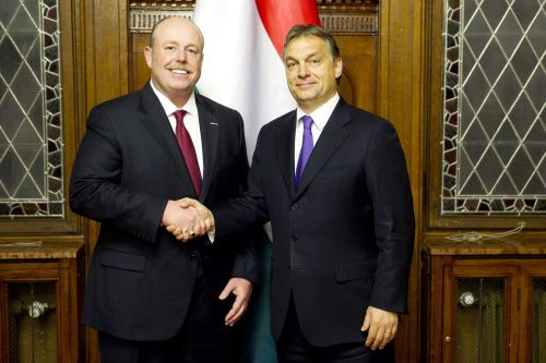 Kevin Turner and Viktor Orbán