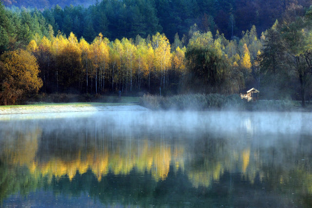 Autumn at Orfű Lake, near Pécs: 2 photos