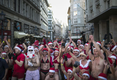 Santas of Budapest