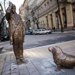 Peter Falk got a statue in Budapest