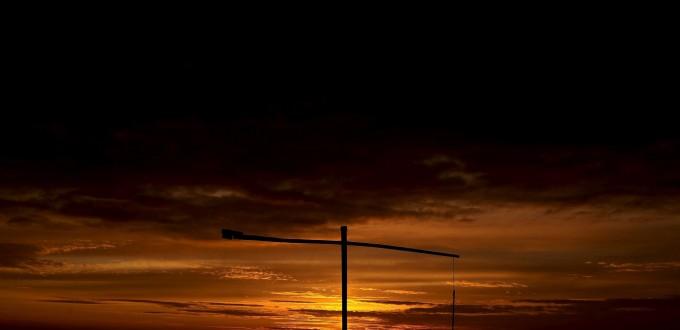 Sunset in Hortobágy