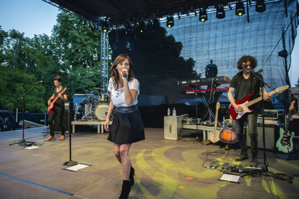 Natalie Imbruglia also gave a concert at the festival MTI Fotó: Sóki Tamás