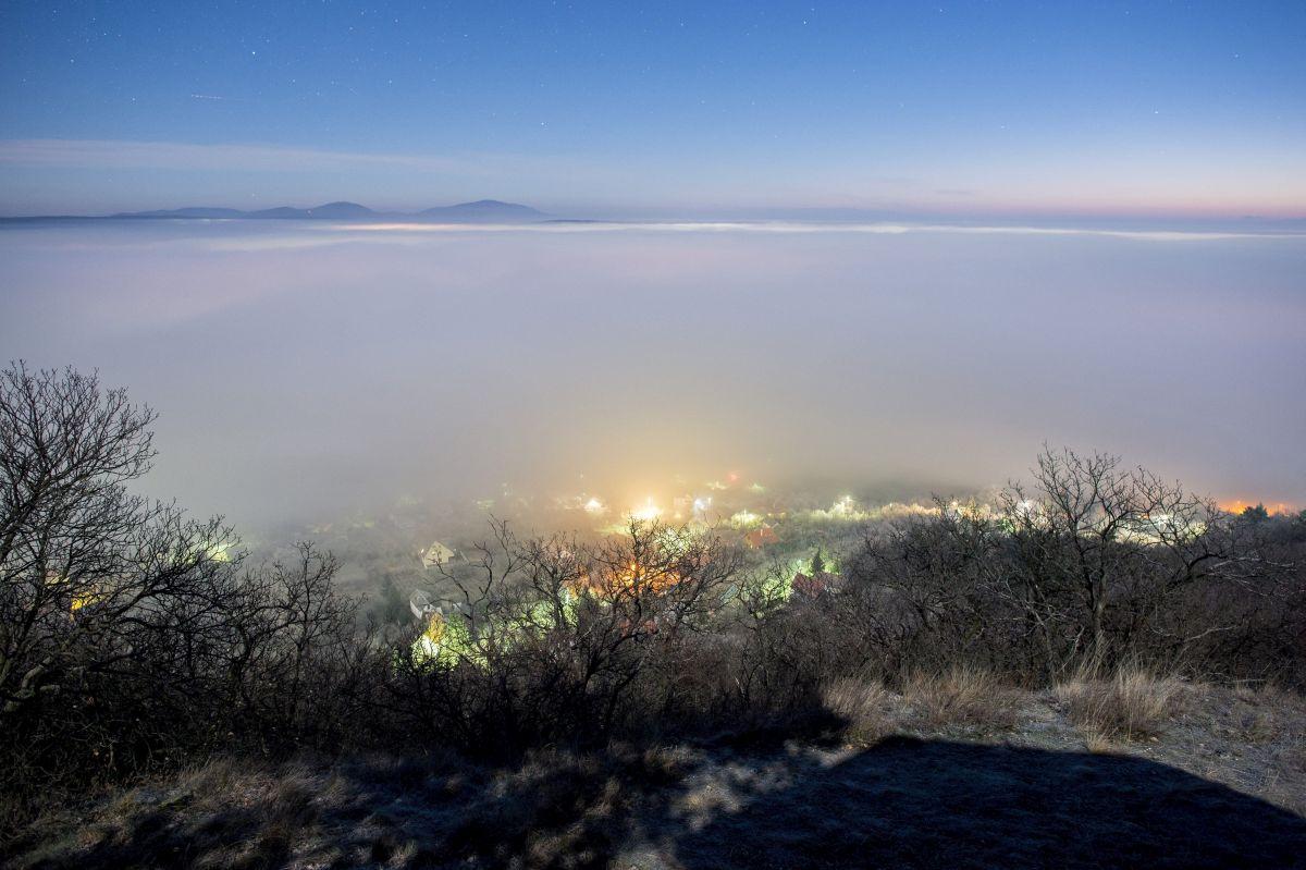The Mecsek Mountains near Pécs in a foggy day (Photo: Tamás Sóki)