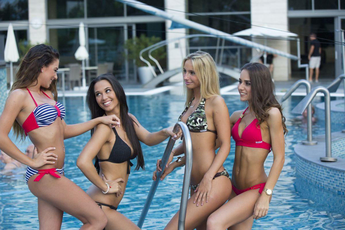 Bikini photos of some finalists of Miss Hungary