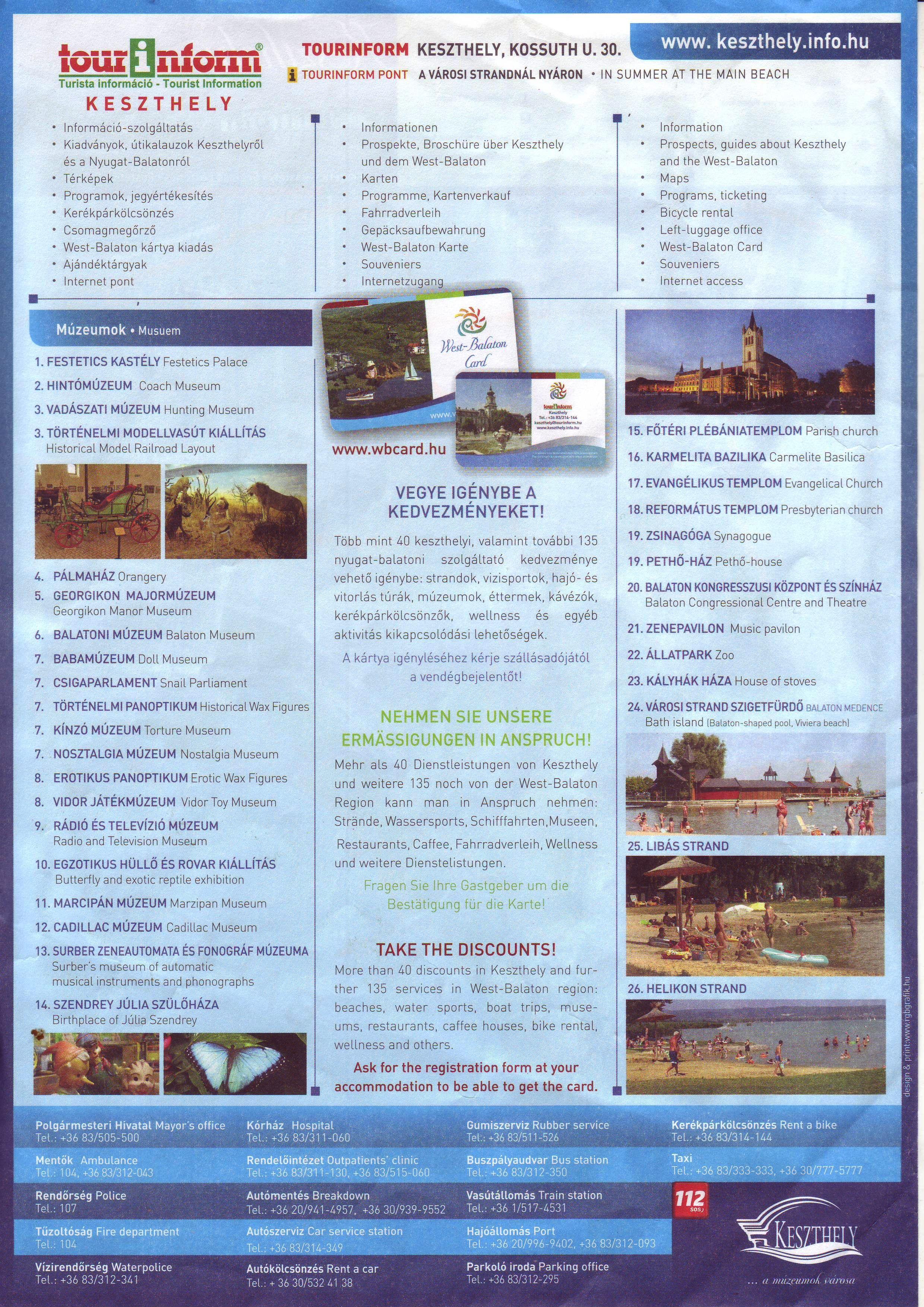 Keszthely Tourist Information