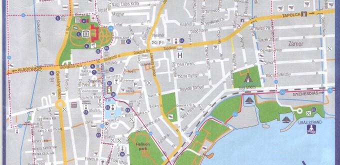 Keszthely Tourist Map