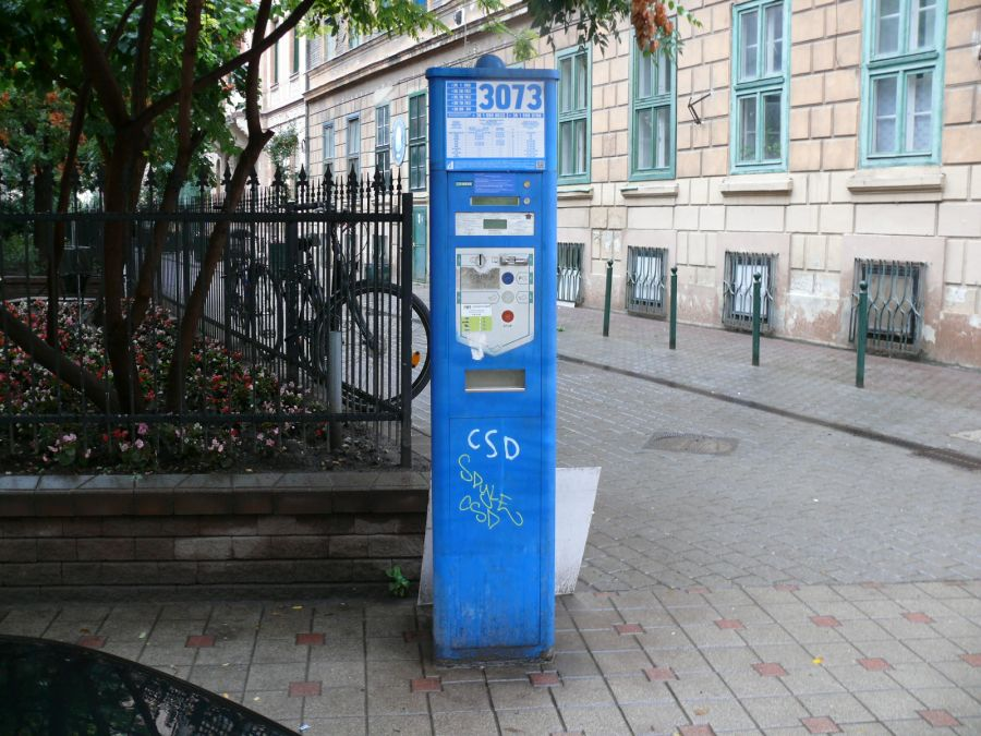 Parking meter in Budapest (District 7)